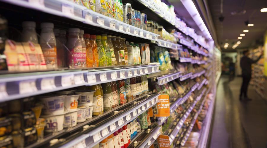 Aliments au supermarche
