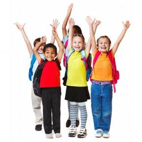 Enfants cole heureux